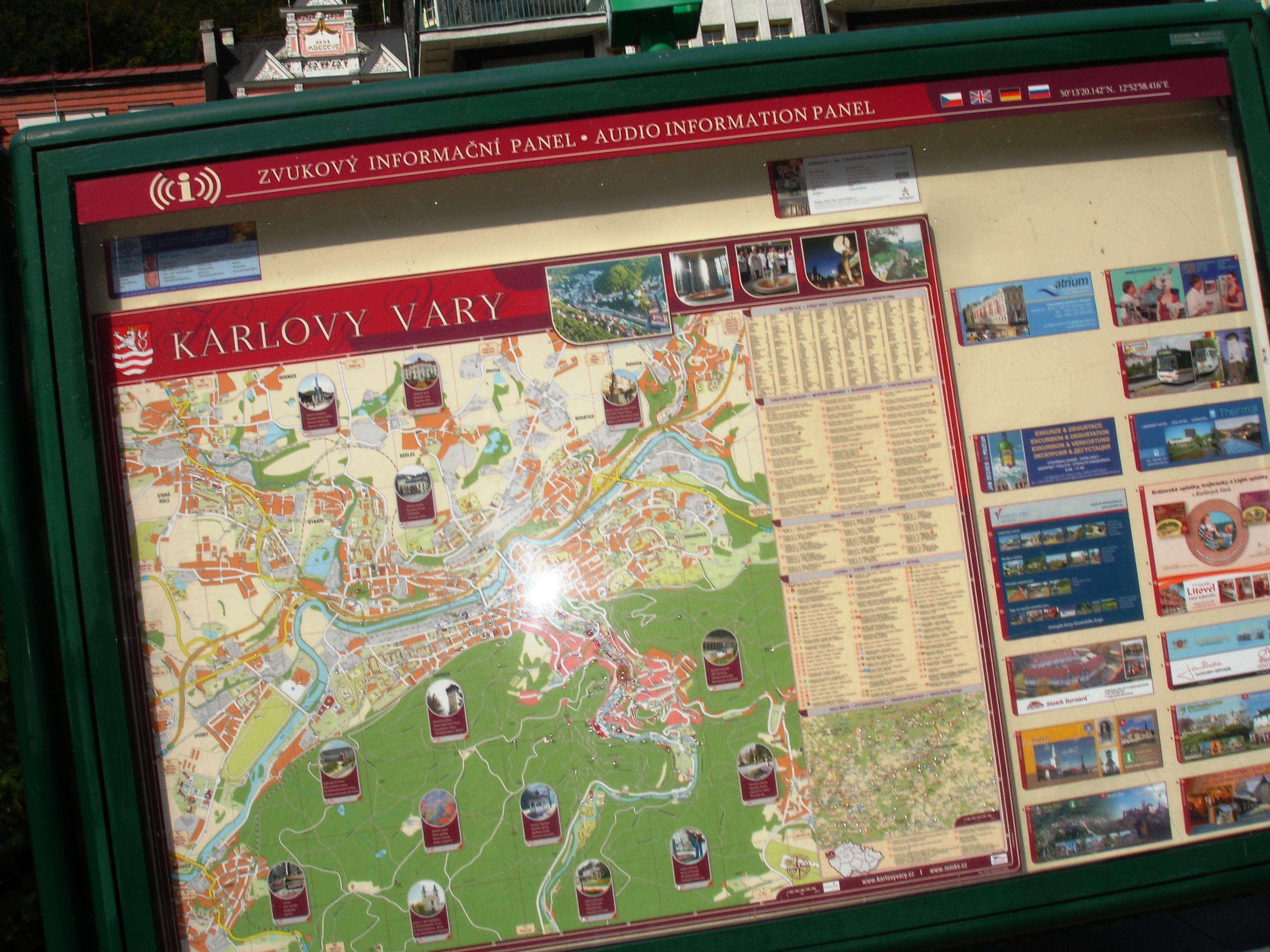 karlovy vary map tourist - photo #8
